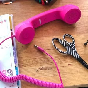 Cell phone telephone receiver